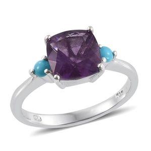 NEW Purple Fluorite Sleeping Beauty Turquoise Ring